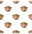 flat cartoon monkey seamless pattern vector image