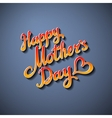 happy mothers day paper lettering background grey vector image