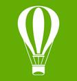hot air balloon icon green vector image