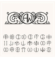 Stylish graceful monogram vector image