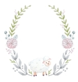 Hand drawn watercolor wreath vector image