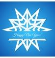 Blue Paper Snowflake Postcard vector image vector image