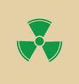 radiation packaging symbol sign icon vector image