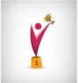 abstract winner leader man vector image
