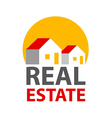 real estate logo identity vector image
