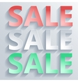 Abstract paper word sale vector image