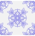Barocco watercolor seamless lace ornament vector image