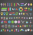 Color arrows collection vector image