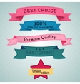 Design elements set in retro style vector image