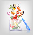 food containers composition vector image