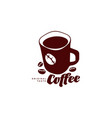 mug of coffee flat icon isolated vector image