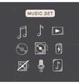 Music media audio symbols set vector image
