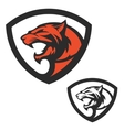 Shield emblem template with puma head Design vector image