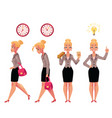 young beautiful businesswoman in various business vector image