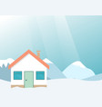 winter resort mountain landscape with house vector image vector image