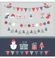 Retro Christmas elements set vector image