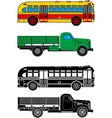 Bus and truck vector image vector image