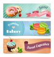 Bakery Banners Set vector image