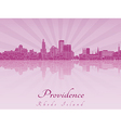 Providence skyline in purple radiant orchid vector image