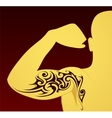Tribal tattoo template vector image vector image