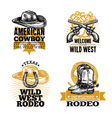 Cowboy Retro Emblems vector image