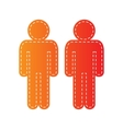 Gay family sign Orange applique isolated vector image