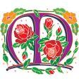 rosette letter M vector image vector image