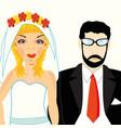 bridegroom and bride vector image