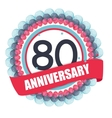 Cute Template 80 Years Anniversary with Balloons vector image
