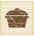 Grungy pan icon vector image
