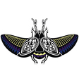 scarab beetle tattoo style vector image