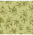 Seamless pattern with olive branches vector image
