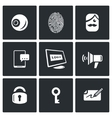Set of Security Technology Icons Retinal vector image