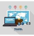 travel infographics design vector image