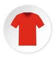 Tshirt icon circle vector image