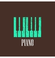 vintage with piano vector image