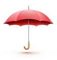 red umbrella vector image vector image