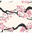 Sakura branches seamless vector image