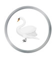 Swan icon in cartoon style isolated on white vector image