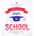back to school lettering poster vector image
