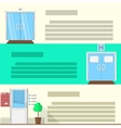 Flat color icons set for doors vector image
