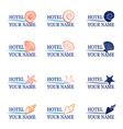 Logo hotel sea vector image