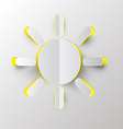 Sun Paper Cut vector image