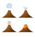 Volcano Icon Set Isolated on White Background vector image