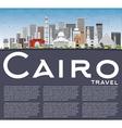 Cairo Skyline with Gray Buildings Blue Sky vector image