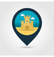 Sand Castle pin map icon Summer Vacation vector image