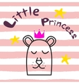 Bear princess t-shirt design for kids and babies vector image