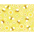 bees flowers pattern vector image