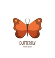 cartoon butterfly logo vector image