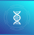 dna chain icon sign vector image